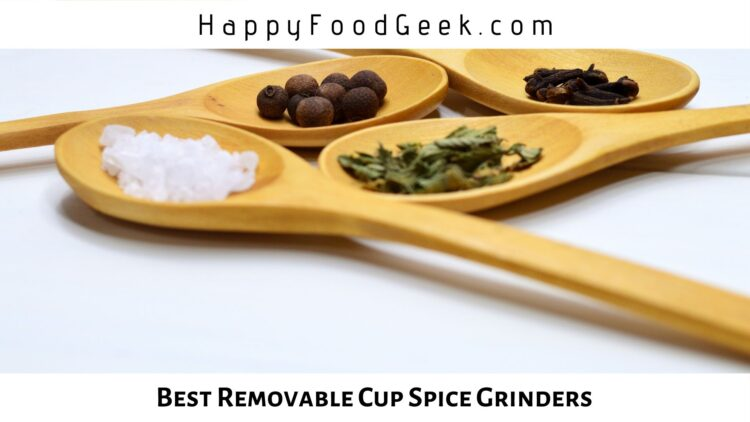 best removable cup spice grinders