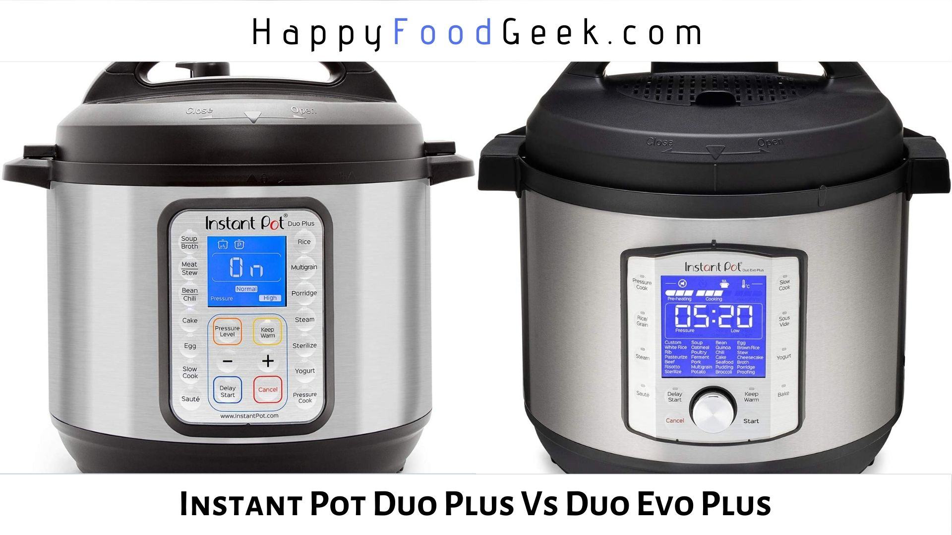 instant pot duo plus vs duo evo plus